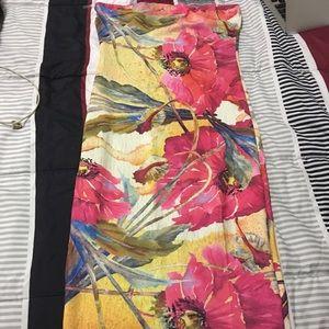 Fashion Nova floral multicolored midi dress